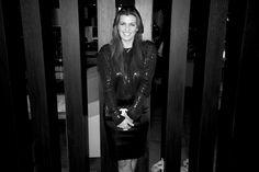 FOTO @SaraGalindoo de @ELLEMexico con un vestido Rolando S. en #ModaNextel cc @LisetteTrepaudJ