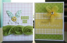 Pretty Spring cards Making Memories paper