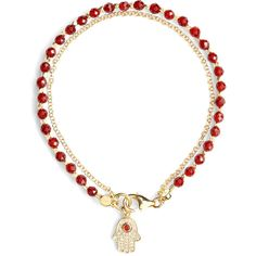 Astley Clarke Pave Diamond Hamsa Friendship Bracelet ($268) ❤ liked on Polyvore