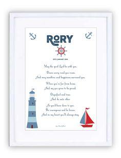 Nautical Blues Personalised Prints, New Beginnings, Nautical, Blues, Framed Prints, In This Moment, Navy Marine, Nautical Style