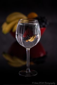 Fruits Cup in Glass of Water