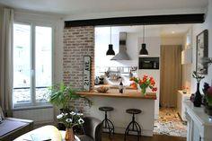 Regardez ce logement incroyable sur Airbnb : Chez Fanny et Aurélie - Appartements à louer à Paris Kitchen Inspirations, Home Decor Kitchen, House Design, Home Furniture, Kitchen Remodel, Kitchen Decor, House Interior, Sweet Home, Home Kitchens