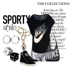 """Sport Cuteness"" by stuff4uand4u ❤ liked on Polyvore featuring Kate Spade Saturday, NIKE and stuff4uand4u"