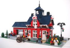 Little Red Dover Train Station by lgorlando, via Flickr