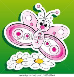 Kids illustration: butterfly on flowers by MilaCroft, via ShutterStock