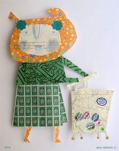 scraps of paper doll #14 by ana ventura, via Flickr