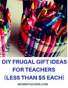 DIY Frugal Gift Ideas for Teachers (Less than $5 Each)