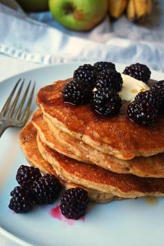 Vegan Apple and Banana Pancakes