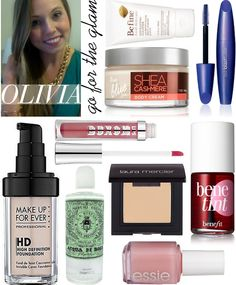 Beauty favorites from Olivia(go for the glam) - http://mossypants.com/blog/2012/10/8/the-makeup-spill-olivia-from-go-for-the-glam.html