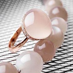 mooie rose gouden ring met maansteen en maansteen collier