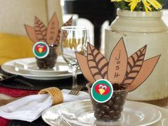 Thanksgiving Place Card and Party Favor