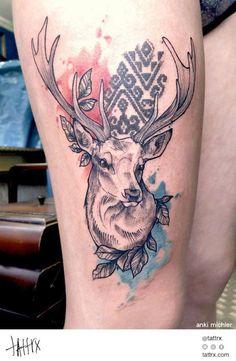 Anki Michler, hamburg, Tattoos Deer #tattoo #ink