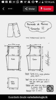 Short Niña, Robin, Bermuda Shorts, Gabriel, Sewing, Pattern, Lingerie, Men's Shorts, Apron Patterns