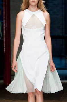 Christopher Kane Spring 2014 - Details #minimalist #fashion #style white dress
