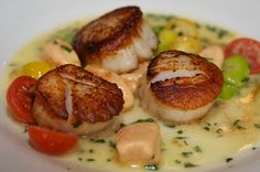 Pan-Roasted Sea Scallops at Pearl Oyster Bar by @Malini Horiuchi