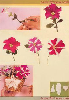 Gum Paste Petunia flower tutorial