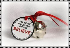 INSTANT DOWNLOAD Adorable Polar Express Bell Tag by MakingLifeWhimsical