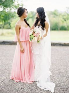 The Maid of Honor's duties--I'm pinning this because LOOK AT THE MOH'S DRESS. Omg. It's beautiful.