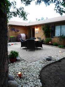 The Happy Homebodies: DIY: Stringing Patio Cafe Lights