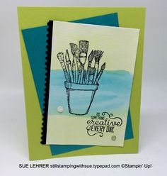 Watercoloring with Crafting Forever Stamp Set  Ticket Tear Border Punch and Glitter Enamel Dots from Stampin' Up!-stillstampingwithsue.typepad.com