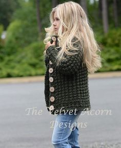 Listing for KNITTING PATTERN ONLY of The Obsidian Sweater.  This sweater is handcrafted and designed with comfort and warmth in mind…Perfect accessory for all seasons.  All patterns are american english written instructions in standard US standard terms.  **Sizes included 2, 3/4, 5/6, 7/8, 9/10, 11/12, S, M, L sizes. **Any super bulky weight yarn can be used.  Finished approx. measurements with sweater folded closed: 2 (sweater 23.5 inch chest circumference) 3/4 (sweater 24.75 inch chest…