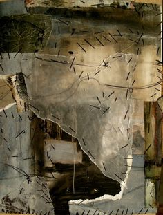 by Jeane Myers  visual diary of cut up paintings stitched together into new pages…