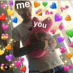 62 New Ideas Memes Apaixonados Lil Peep 100 Memes, Funny Memes, Lil Peep Lyrics, Lil Peep Beamerboy, Lil Peep Hellboy, Types Of Boyfriends, Heart Meme, Cute Love Memes, Snapchat Stickers