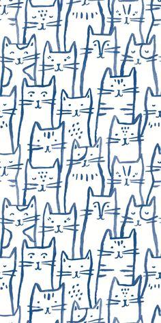 Smitten Kitten - Traditional / 2 x 8 ft / Blue -- 426da4