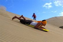 The Giant Te Paki Sand Dunes, 17 kms from Cape Reinga