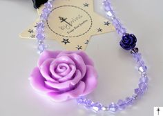 Your place to buy and sell all things handmade Flower Necklace, Crochet Necklace, Pearl Necklace, Purple Statement Necklace, Jewerly, Gift Wrapping, Pearls, Flowers, Gifts