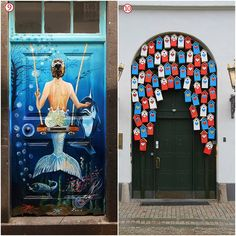 Beautifully decorated doors leading to other worlds