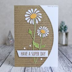 The Clean Team has chosen the Princesses for you this week and our hostess Jacquie has chosen the Queen! The Queen of Clean: LucieG o. Daisy Image, Sending Hugs, Cards For Friends, Friend Cards, Die Cut Cards, Card Making Inspiration, Card Sketches, Flower Cards, Scrapbook Cards