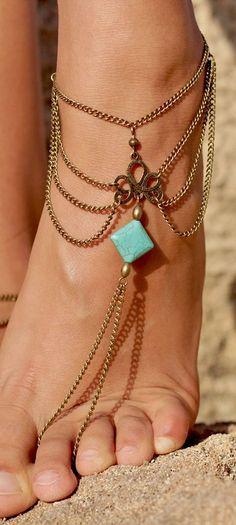 Bohemian jewelry style Accesorio para el fetichismo de los pies