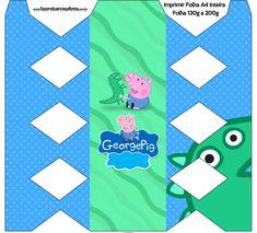 Caixa Bala Geoge Pig e Dinossauro: