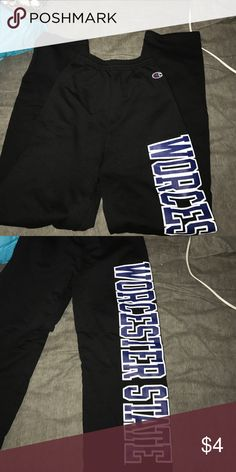 Sweatpants Free with purchase, too small for me. College sweatpants for Worcester state if you've ever heard of it haha Pants