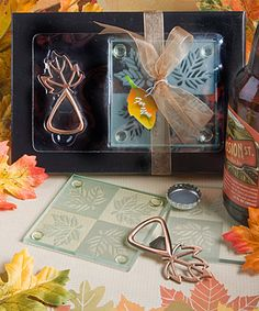 Leaf Design Bar Set - Fall Favors $4.07