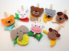 Feed The Animals Clothespin Game