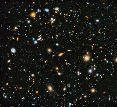 The most comprehensive view yet of the evolution of the Universe. Hubble Space Telescope observations in the ultraviolet have been added to the existing observations of the Hubble Ultra Deep Field. So the youngest and hottest stars - absent from the original - are now included. (Image Credit: NASA, ESA, H. Teplitz and M. Rafelski (IPAC/Caltech), A. Koekemoer (STScI), R. Windhorst (Arizona State University), and Z. Levay (STScI))