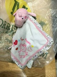 Does this belong to anyone? This Peppa Pig comfort blanket was found on Littlehampton Road in Worthing, Sussex on August…