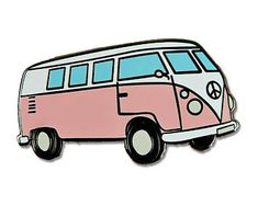 Hippie Van Enamel Pin - Hard Enamel - Flair - 60's - Lapel Pins