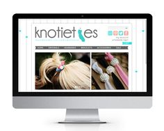 Website design and development for Knotieties, by The Savvy Socialista.