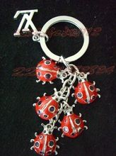 Car key chain keychain key ring ladybug(China (Mainland))