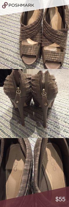 Also grey open toe heels Grey aldo open toe cross cross heel Aldo Shoes Heels