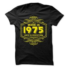 Made in 1975 Aged to Perfection yellow T Shirts, Hoodie