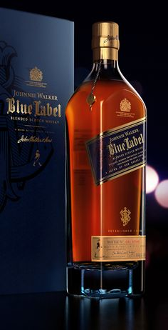 3D Product Visualization - Johnnie Walker (Blue Label) by Kalpesh Patil, via Behance