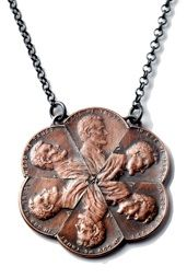 Sweet coin jewelry, money clips, lights, and cufflinks from Stacey Lee Webber.