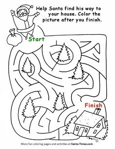 76 Best Printable Christmas Coloring And Activity Pages Images