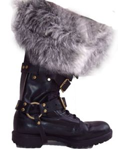 Fur-topped LARP boots.