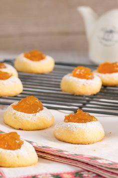 Biscottini al burro con marmellata: preparali per la merenda o per un tè con le amiche!  [Butter cookies with jam]