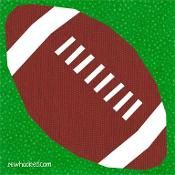 Football with Laces (paper pieced) - via @Craftsy